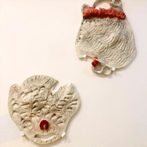 Glazed ceramic relief